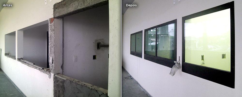 Antes e Depois - Inova Glass
